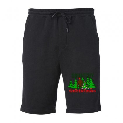 Squatchy Christmas Fleece Short Designed By Mirazjason