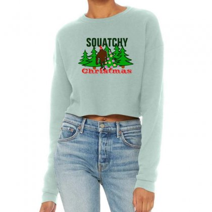 Squatchy Christmas Cropped Sweater Designed By Mirazjason