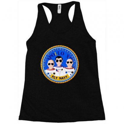 Space Hipsters Apollo 12 Anniversary Racerback Tank Designed By Mirazjason