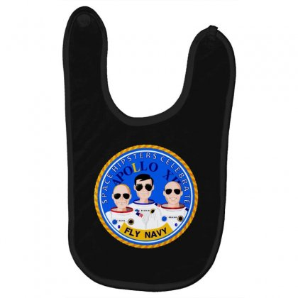 Space Hipsters Apollo 12 Anniversary Baby Bibs Designed By Mirazjason