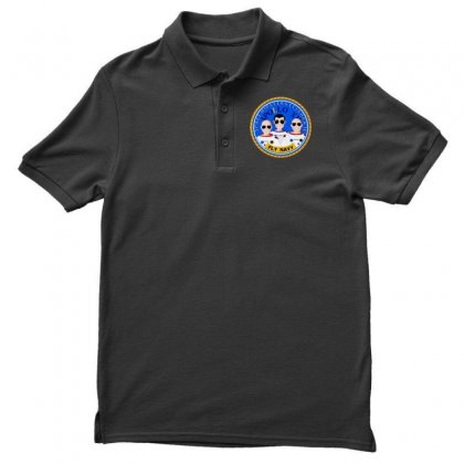 Space Hipsters Apollo 12 Anniversary Men's Polo Shirt Designed By Mirazjason