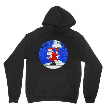 Skiing Santa At The North Pole Unisex Hoodie Designed By Mirazjason