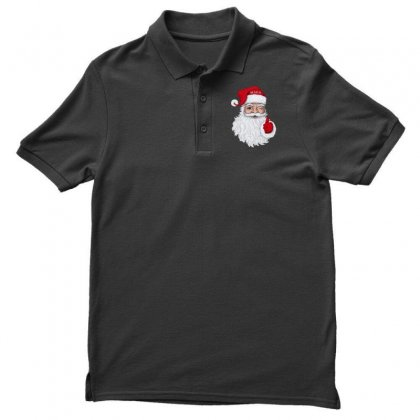 Santa With Maga On His Hat For Christmas Men's Polo Shirt Designed By Mirazjason