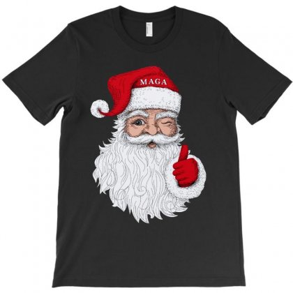 Santa With Maga On His Hat For Christmas T-shirt Designed By Mirazjason