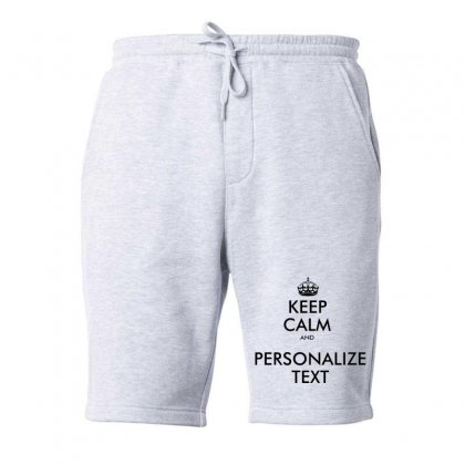 Personalized Keep Calm   Black Fleece Short Designed By Mirazjason