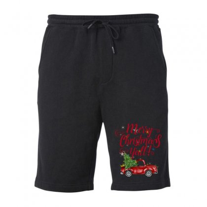 Merry Christmas Y'all Fleece Short Designed By Mirazjason
