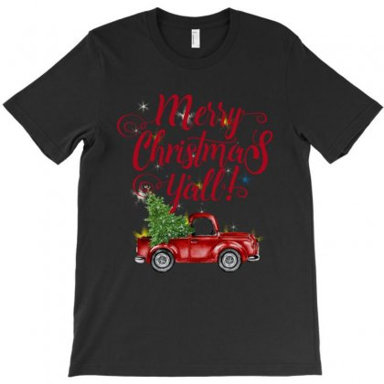 Merry Christmas Y'all T-shirt Designed By Mirazjason