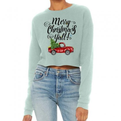 Merry Christmas Y'all For Light Cropped Sweater Designed By Mirazjason
