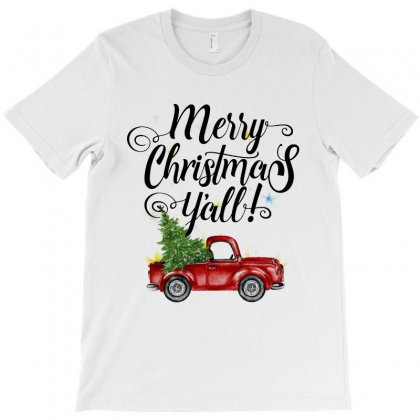 Merry Christmas Y'all For Light T-shirt Designed By Mirazjason