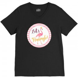 let's flamingle V-Neck Tee | Artistshot
