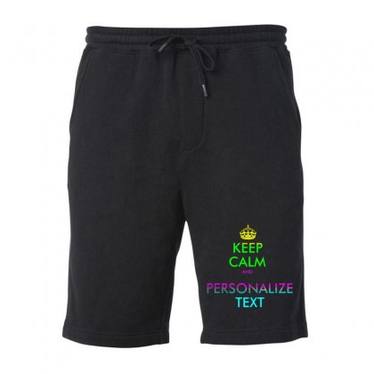 Personalized Keep Calm Fleece Short Designed By Mirazjason