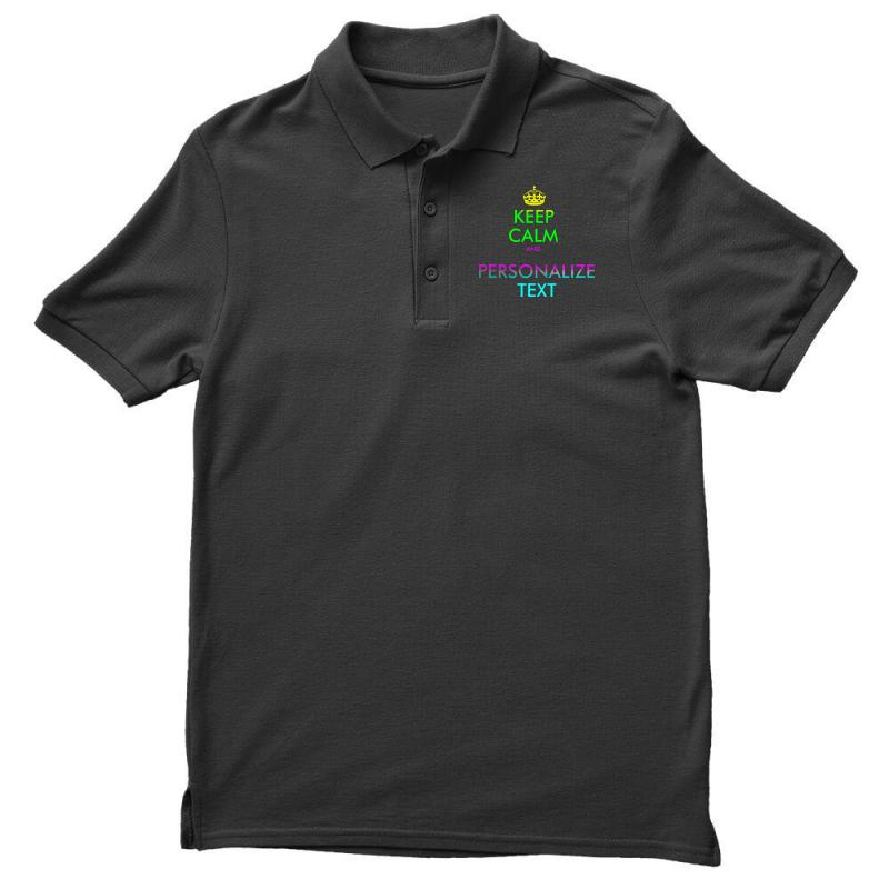 Personalized Keep Calm Men's Polo Shirt | Artistshot
