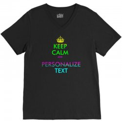 personalized keep calm V-Neck Tee | Artistshot