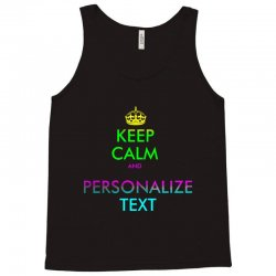personalized keep calm Tank Top | Artistshot