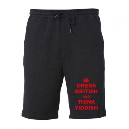Dress British  And  Think Yiddish   Red Fleece Short Designed By Mirazjason