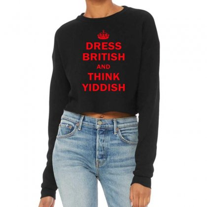 Dress British  And  Think Yiddish   Red Cropped Sweater Designed By Mirazjason