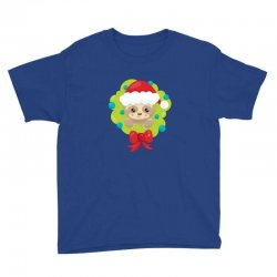 christmas sloth in a christmas wreath Youth Tee | Artistshot