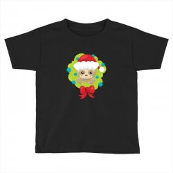 christmas sloth in a christmas wreath Toddler T-shirt | Artistshot