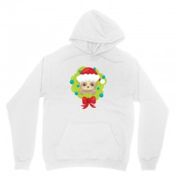 christmas sloth in a christmas wreath Unisex Hoodie | Artistshot