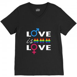 Love is love V-Neck Tee | Artistshot