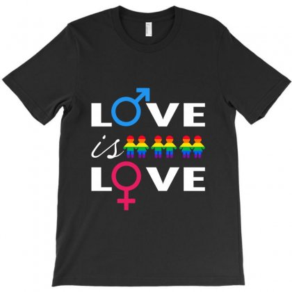 Love Is Love T-shirt Designed By Alececonello