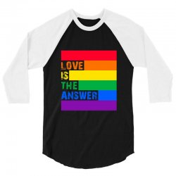 Love is the answer 3/4 Sleeve Shirt | Artistshot