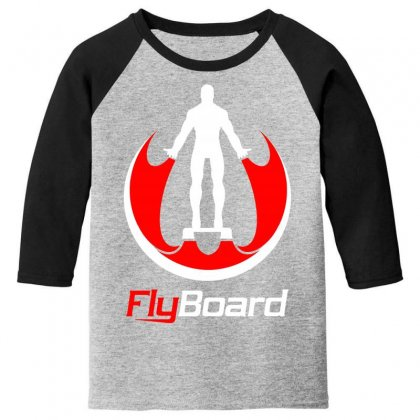 Fly Board Youth 3/4 Sleeve Designed By Bluebubble