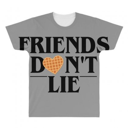 Friends Don't Lie All Over Men's T-shirt Designed By Bluebubble