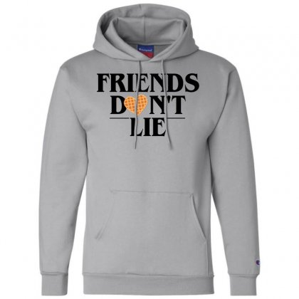 Friends Don't Lie Champion Hoodie Designed By Bluebubble