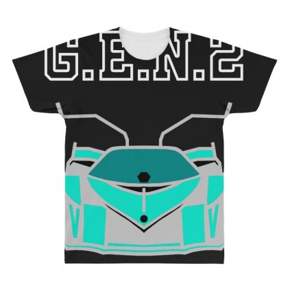 Gen2 Logo All Over Men's T-shirt Designed By Bluebubble