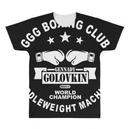 Ggg Boxing Club All Over Men's T-shirt Designed By Bluebubble