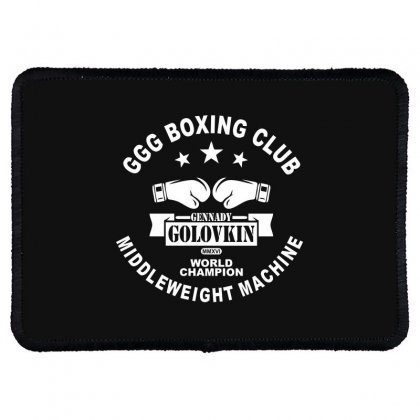 Ggg Boxing Club Rectangle Patch Designed By Bluebubble