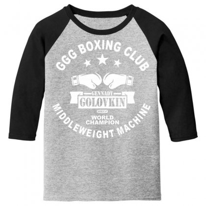 Ggg Boxing Club Youth 3/4 Sleeve Designed By Bluebubble