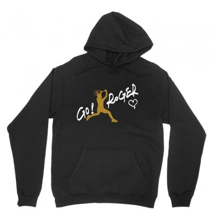 Go Roger White Unisex Hoodie Designed By Bluebubble