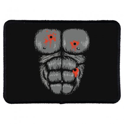 Gorilla Halloween Rectangle Patch Designed By Bluebubble