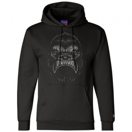 Gorilla T Shirt Champion Hoodie Designed By Bluebubble