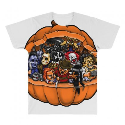 Hallowen All Over Men's T-shirt Designed By Bluebubble