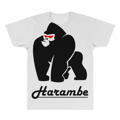 Harambe Black All Over Men's T-shirt Designed By Bluebubble