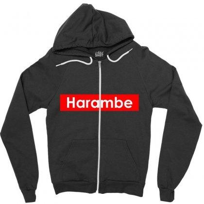 Harambe Zipper Hoodie Designed By Bluebubble