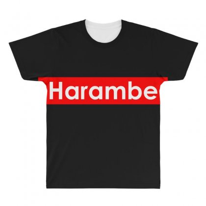 Harambe All Over Men's T-shirt Designed By Bluebubble