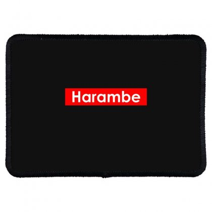 Harambe Rectangle Patch Designed By Bluebubble