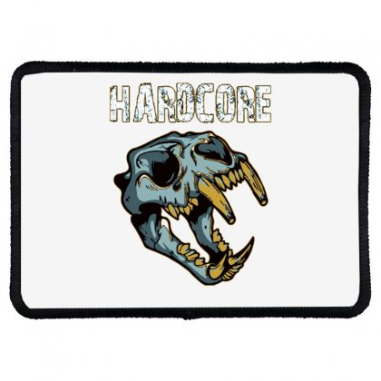 Hardcore T Shirt Rectangle Patch Designed By Bluebubble