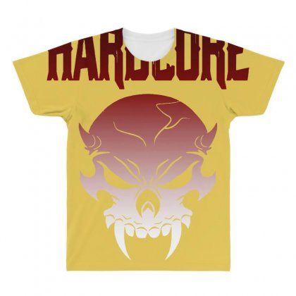 Hardcore T Shirt All Over Men's T-shirt Designed By Bluebubble