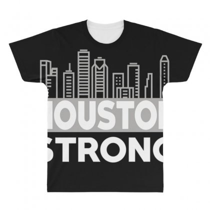 Houston Strong City All Over Men's T-shirt Designed By Bluebubble