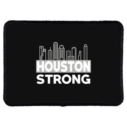 Houston Strong City Rectangle Patch Designed By Bluebubble