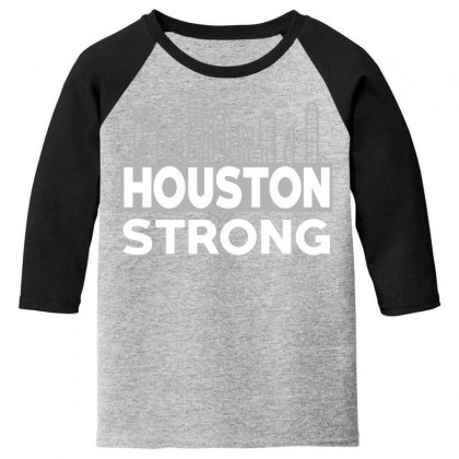 Houston Strong City Youth 3/4 Sleeve Designed By Bluebubble