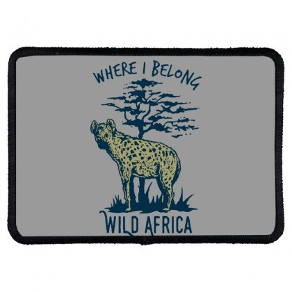 Hyena T Shirt Rectangle Patch Designed By Bluebubble