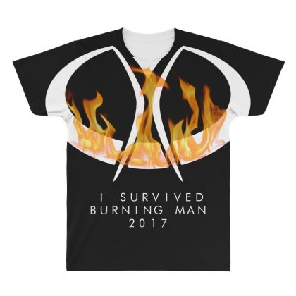 I Survived Burning Man All Over Men's T-shirt Designed By Bluebubble