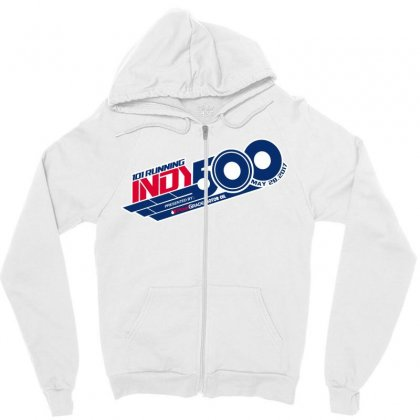 Indy 500 Zipper Hoodie Designed By Bluebubble