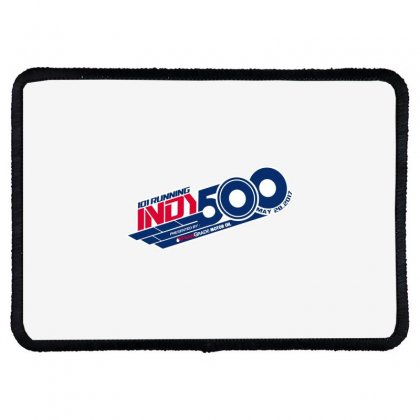 Indy 500 Rectangle Patch Designed By Bluebubble